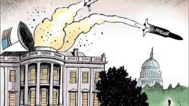 هجوم ترامب على سوريا عن موقع «كارتون سياسي»