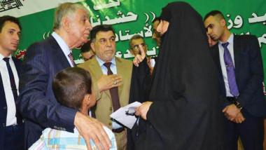 اللعيبي.. دعم ورعاية عوائل شهداء الحشد الشعبي