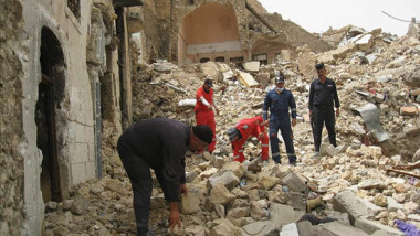 """انتشال نحو 1200 جثة من """"قديمة"""" الموصل أغلبها لعناصر داعش"""