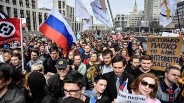 روسيا تشهد أوسع مظاهرات احتجاجية وعشرات الآلاف ينزلون إلى الشارع