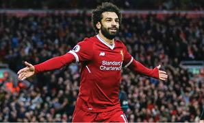 محمد صلاح أول هداف للدوري الإنجليزي بـ 32 هدفاً من 38 جولة