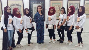 معرض تشكيلي لطالبات معهد الفنون الجميلة في بغداد