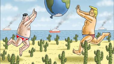 قضاء العطلة في سنغافورة عن موقع «كارتون سياسي»