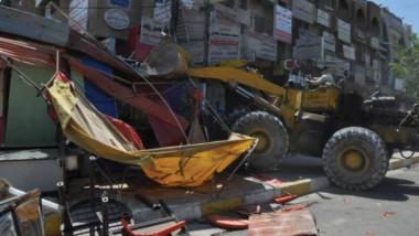 أمانة بغداد تزيل 538 تجاوزا في منطقة المنصور
