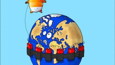 بالون ترامب في لندن عن موقع «كارتون سياسي»
