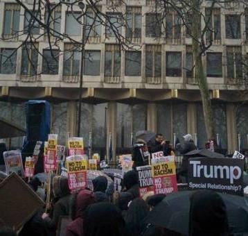 تظاهرات كبرى في لندن ضد ترامب