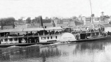 أعظم شركة أجنبية في بغداد (بيت اللنج)  تحتكر النقل النهري والبحري