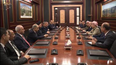 بارزاني يبحث مع وفد الاصلاح والاعمار سبل مشاركة الكرد في الحكومة المقبلة