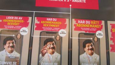 طارق الخزاعي «كريم كومفيك» مسرحي عراقي نجم إعلانات في التلفزيون السويدي