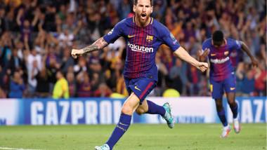 ميسي يعادل رقم رونالدو التهديفي في دوري أبطال أوروبا