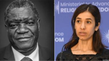 نوبل للسلام مناصفة بين العراقية نادية مراد والطبيب الكونغولي دنيس موكويغي
