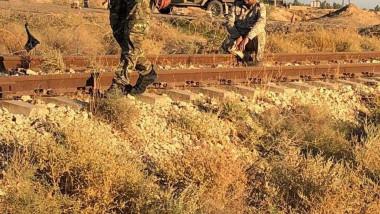 هندسة الحشد تطهر سكة حديد بغداد – صلاح الدين