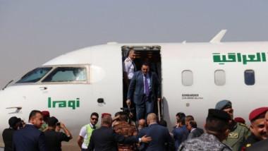 تدشين اول رحلة طيران في مطار كركوك الدولي