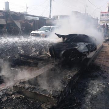 اصابة 10 اشخاص بانفجار سيارة ملغومة في القيارة