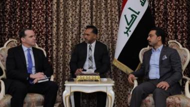 الحلبوسي وماكورك يبحثان تعزيز العلاقات الثنائية والجهود الدولية لدعم العراق