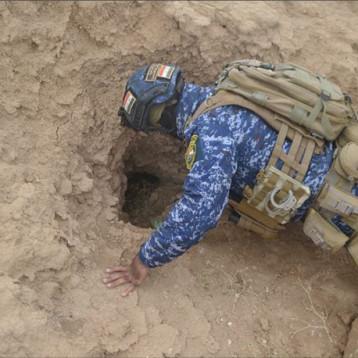 السيول تغرق عشرات الجحور والأنفاق لداعش بأطراف نينوى