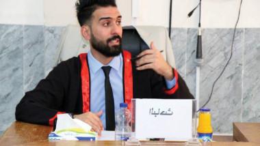 الماجستير لمدرب  السلة إبراهيم جليل