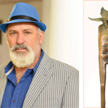 النحات العراقي هيثم حسن: حلمي أن أصنع لمن أحبه، تمثالاً يضيء الكون