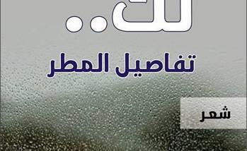 لمسات فنية ساحرة في.. «لكَ تفاصيل المطر»