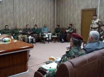 اجتماع مشترك بين الحشد والقيادات الأمنية في الأنبار