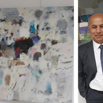 التشكيلي حسن إبراهيم: أنا سعيد  الحظ لأني اتمتع بكل عمل أنجزه