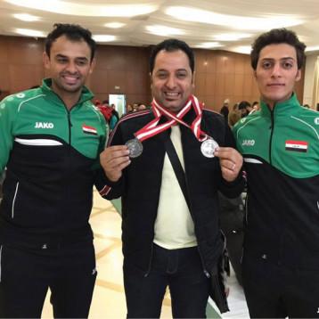 وسامان للمبارزة في بطولة العرب