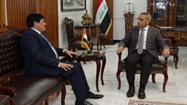 زيدان والسفير السوري يناقشان دور القضاء في مكافحة الإرهاب