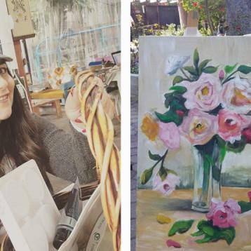 الفنانة اللبنانية باسكال مسعود:  احلم بإقامة معرض تشكيلي في العراق