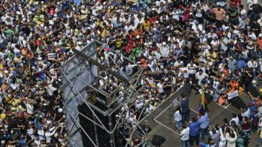 غوايدو يدعو الفنزويليين إلى مزيد من التظاهرات للإطاحة بمادورو