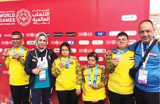البوتشي يحصد فضية الألعاب العالمية في أبو ظبي