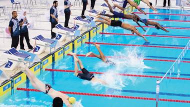 السباحة يحرز الذهب.. والبولنغ والبوتشي يحصدان البرونز