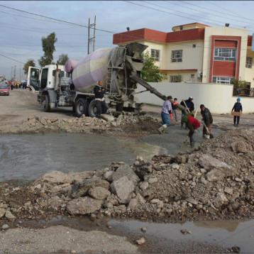 سبعة ملايين متر مربع فقط من شوارع نينوى بحاجة الى لاعمار