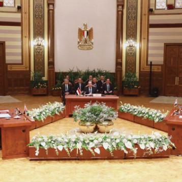 محور عربي جديد لإعادة الاستقرار في المنطقة ودعم اعمار البلاد ومكافحة الإرهاب