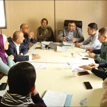 فريق الصندوق الاجتماعي للتنمية يجرى جولة ميدانية في القرى المشمولة بدعمه