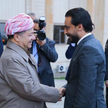 رئيس مجلس النواب يلتقي بارزاني في أربيل