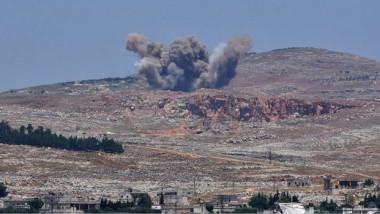 الطيران الإسرائيلي يقصف مستودعات  جنوبي دمشق يعتقد انها لإيران وحزب الله
