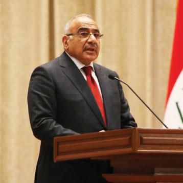 عبد المهدي: لا صعوبة بالسيطرة أمنيا على الصحراء واعتماد التقنية الحديثة ضرورة