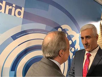 وزير الشباب والرياضة يلتقي رئيس نادي ريال مدريد