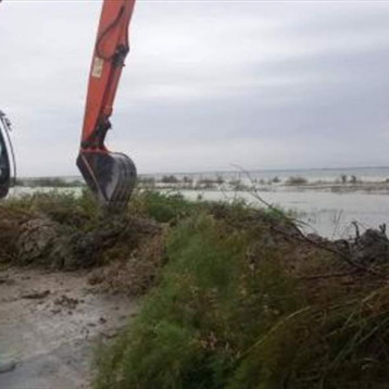 الموارد المائية تنجز تقوية السداد الفيضانية في صلاح الدين