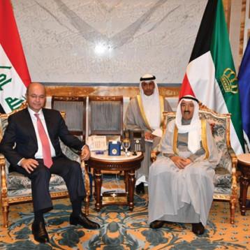 الشيخ صباح الأحمد الجابر: الكويت تؤمن بشكل  راسخ بأهمية ان ينعم العراق بالأمن والاستقرار