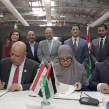 العراق والأردن يوقعان مذكرة تنفيذ  المشاريع والبنى التحتية وإعادة الاعمار