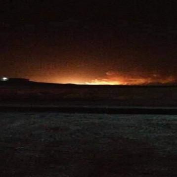 معسكر الشهداء قرب امرلي لم يستهدف بطائرة او صاروخ وانفجاره نتيجة خلل داخلي