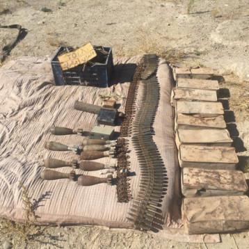 الاستخبارات العسكرية تضبط اسلحة متنوعة غربي الموصل