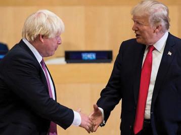 """ترامب يعرض على بريطانيا اتفاقاً تجارياً """"كبيراً جداً"""" ولندن تعتزم اغتنام الفرصة"""