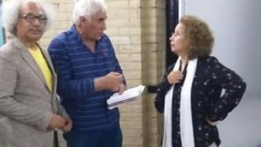 عواطف نعيم وعزيز خيون في ورشة عن الاخراج المسرحي