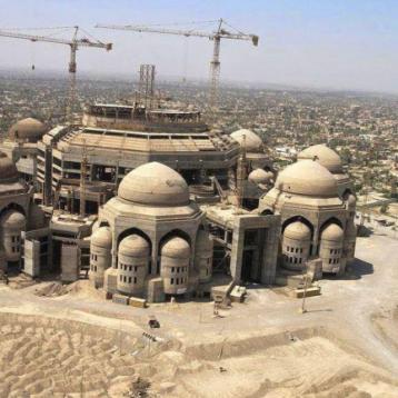 حزب الفضيلة يستولي على اكبر مساحة لجامع في اغلى منطقة ببغداد بطريقة غير معروفة