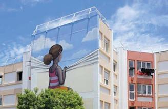 فنانة تحول المباني الى أعمال فنية مذهلة