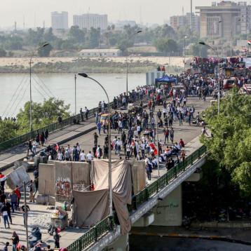 إضراب شبه كامل في بغداد ومحافظات وسط وجنوب العراق