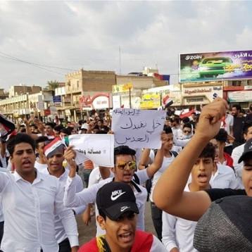 استمرار الاعتصام الطلابي في بغداد والمحافظات دعما للتظاهرات