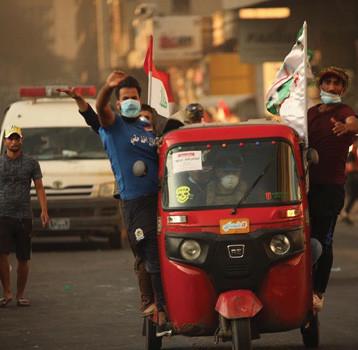 المرجعية: المتظاهرون لم يجدوا غير الاحتجاجات طريقاً للخلاص من الفساد المتفاقم ولن يتراجعوا